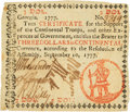 Colonial Notes:Georgia, Georgia September 10, 1777 $3 Fr. GA-116. PCGS Very Fine 30Apparent.. ...