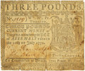 Colonial Notes:Virginia, Virginia July 11, 1771 3 Pounds Fr. VA-60. PCGS Very Fine 30Apparent.. ...