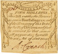 Colonial Notes:Massachusetts, Massachusetts October 16, 1778 4 Shillings Fr. MA-264. PCGS VeryChoice New 64PPQ.. ...