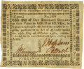"Colonial Notes:Virginia, Virginia October 16, 1780 $1000 ""clothing the Army"" Fr. VA-202.PCGS Very Fine 30.. ..."