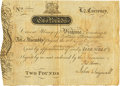 Colonial Notes:Virginia, Virginia July 17, 1775 2 Pounds Ashby Note Fr. VA-78b. PCGS VeryFine 25.. ...