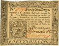 Colonial Notes:Pennsylvania, Pennsylvania April 20, 1781 40 Shillings Fr. PA-253. PCGS New62PPQ.. ...
