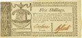 Colonial Notes:Georgia, State of Georgia October 16, 1786 5 Shillings Fr. GA-129. PCGSExtremely Fine 40.. ...
