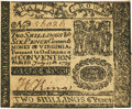 Colonial Notes:Virginia, Virginia July 17, 1775 2 Shillings 6 Pence Small Ordinance Fr.VA-72a. PCGS About New 53PPQ.. ...