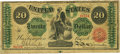 Large Size:Legal Tender Notes, Fr. 126b $20 1863 Legal Tender PCGS Very Fine 20 Apparent.. ...