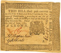Colonial Notes:Pennsylvania, Pennsylvania June 18, 1764 5 Shillings George Clymer Signature Fr.PA-123. PCGS About New 50.. ...