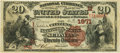 National Bank Notes:Missouri, Sedalia, MO - $20 1882 Brown Back Fr. 499 The Citizens NB Ch. #(M)1971 PCGS Very Fine 30.. ...