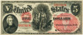 Large Size:Legal Tender Notes, Fr. 67 $5 1875 Legal Tender PCGS Choice About New 58.. ...