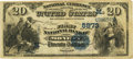 National Bank Notes:Missouri, Monett, MO - $20 1882 Value Back Fr. 581 The First NB Ch. # (M)5973PCGS Very Fine 20.. ...