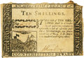 Colonial Notes:North Carolina, North Carolina May 17, 1783 10 Shillings Contemporary Counterfeit Fr. NC-205 PCGS Extremely Fine 45 Apparent. . ...