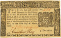 Colonial Notes:New York, New York March 5, 1776 $5 Fr. NY-194. PCGS Choice About New 58PPQ.....