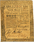 Colonial Notes:Pennsylvania, Pennsylvania May 1, 1760 20 Shillings Fr. PA-112. PCGS ExtremelyFine 40 Apparent.. ...