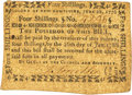 Colonial Notes:New Hampshire, New Hampshire June 28, 1776 4 Shillings Fr. NH-168. PCGS Very Fine 35.. ...