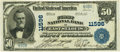 National Bank Notes:Illinois, East Saint Louis, IL - $50 1902 Plain Back Fr. 683 The First NB Ch.# 11596 PCGS Extremely Fine 40.. ...