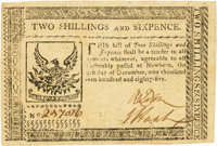 North Carolina December 29, 1785 2 Shillings 6 Pence Fr. NC-211. PCGS Choice About New 55PPQ