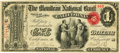 National Bank Notes:Missouri, California, MO - $1 Original Fr. 382 The Moniteau NB Ch. # 1712PCGS Very Choice New 64.. ...