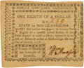 Colonial Notes:North Carolina, North Carolina August 8, 1778 $1/8 Union... Fr. NC-170. PCGS ChoiceAbout New 58PPQ.. ...