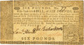Colonial Notes:Pennsylvania, Pennsylvania June 15, 1767 6 Pounds Fr. PA-129. PCGS Very Fine30PPQ.. ...