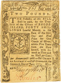Colonial Notes:Rhode Island, Rhode Island June 16, 1775 40 Shillings Fr. RI-196. PCGS Extremely Fine 40 Apparent.. ...