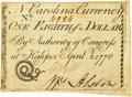 Colonial Notes:North Carolina, North Carolina April 2, 1776 $1/8 Snake Biting Sword in ScabbardFr. NC-154g PCGS Extremely Fine 40 Apparent.. ...