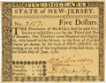 Colonial Notes:New Jersey, State of New Jersey June 9, 1780 $5 Fr. NJ-188. PCGS Choice New63PPQ.. ...