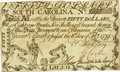 Colonial Notes:South Carolina, South Carolina February 8, 1779 $50 Fr. SC-154. PCGS Choice AboutNew 55 Apparent.. ...
