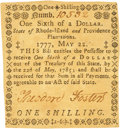 Colonial Notes:Rhode Island, Rhode Island May 22, 1777 $1/6 Fr. RI-270. PCGS Choice About New 58PPQ.. ...