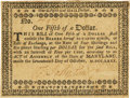 Colonial Notes:Maryland, State of Maryland October 17, 1780 Small Denomination Act $1/5 Fr. MD-126. PCGS Very Fine 35 Apparent.. ...