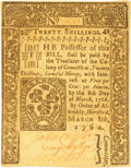 Colonial Notes:Connecticut, Colony of Connecticut March 8, 1764 20 Shillings Fr. CT-156. PCGSChoice About New 58PPQ.. ...