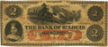 Obsoletes By State:Missouri, Kirksville, MO - Bank of St. Louis (2nd), at their Bank in Kirksville $2 July 2, 1861 MO-50 G50a SENC. PCGS Fine 15. . ...
