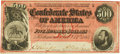 Confederate Notes:1864 Issues, Confederate States of America - T64 $500 1864 PF-3, Cr. 489B. PCGS Choice About New 55.. ...