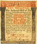 Colonial Notes:Pennsylvania, Pennsylvania March 20, 1771 10 Shillings Francis HopkinsonSignature Fr. PA-147. PCGS Extremely Fine 40 Apparent.. ...