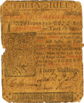 Colonial Notes:Delaware, Delaware May 31, 1760 30 Shillings Fr. DE-70. PCGS Very Good 10Apparent.. ...