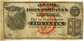 (Lutesville, MO) - Ozark Iron Company's Store 5 Cents Undated (ca. 1870s). PCGS Very Fine 20 Apparent