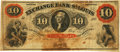Obsoletes By State:Missouri, St. Louis, MO - Exchange Bank of St. Louis, at St. Louis $10 May 1, 1863 MO-10 UNL. PCGS Very Fine 20 Apparent. . ...