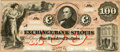 Obsoletes By State:Missouri, St. Louis, MO - Exchange Bank of St. Louis, at___ $100 18__ MO-10 G50a. Proof. PCGS Choice About New 58. . ...