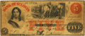Obsoletes By State:Missouri, Kirksville, MO - Bank of St. Louis (2nd), at their Bank in Kirksville $5 May 12, 1860 MO-50 G40c SENC. PCGS Very Fine 20 Appar...