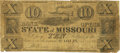 Obsoletes By State:Missouri, St. Louis, MO - Bank of the State of Missouri $10 Dec. 7, 1842 MO-60 S5 Spurious Issue. PCGS Very Good 10 Apparent. . ...