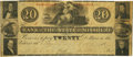 Fayette, MO - Bank of the State of Missouri, at Fayette $20 Contemporary Counterfeit Aug. 1, 1857 MO-60 C124 SENC. PCGS...