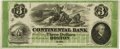 Obsoletes By State:Massachusetts, Boston, MA - Continental Bank $3 Oct. 18__ MA-160 G6a. Remainder.PCGS About New 53PPQ. . ...