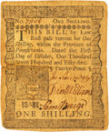 Colonial Notes:Pennsylvania, Pennsylvania October 1, 1755 1 Shilling Fr. PA-63. PCGS Extremely Fine 40 Apparent.. ...