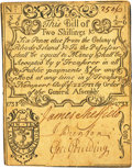 Colonial Notes:Rhode Island, Rhode Island August 22, 1738 2 Shillings 6 Pence Fr. RI-30. PCGS Extremely Fine 40 Apparent.. ...