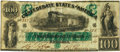 Confederate Notes:1861 Issues, Confederate States of America - T5 1861 $100 PF-1, Cr. 5. PCGS Very Fine 35PPQ.. ...