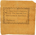 "Colonial Notes:New York, Woodhouse (Upper Canada) - Unknown Issuer One Shilling, ""New York Currency in [Canadian] Army Bills"" Undated (Ca. 1812). PCGS ..."