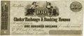 """Obsoletes By State:Pennsylvania, Philadelphia, (PA) - Clarks' Exchange & Banking Houses """"at sight pay to...E. W. Clark & Brothers, Bankers St. Louis, Mo. $100 ..."""