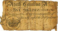 Colonial Notes:North Carolina, North Carolina April 4, 1748 5 Shillings Crown Fr. NC-61. PCGS Very Good 10 Apparent.. ...