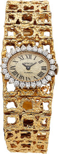 Estate Jewelry:Watches, Geneva Lady's Diamond, Gold Watch . ...