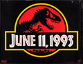 "Movie Posters:Science Fiction, Jurassic Park (Universal, 1993). Subway (46"" X 60"") Advance.Science Fiction.. ..."