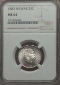 Coins of Hawaii , 1883 25C Hawaii Quarter MS64 NGC. NGC Census: (245/276). PCGSPopulation: (357/341). CDN: $400 Whsle. Bid for problem-free ...