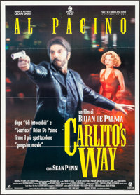 "Carlito's Way (Penta Film, 1993). Folded, Very Fine. Italian 2 - Fogli (39.25"" X 55.25""). Crime"
